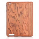 Protective Wooden Back Case for iPad 2 / The New iPad - Rosewood