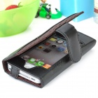 Protective PU Leather Case for Iphone 4 / 4S - Black
