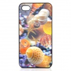 3D Conch Pattern Protective Plastic Back Case for Iphone 4 / 4S - Variegation