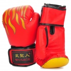 Martial Arts Training Free Combat Boxing Gloves - Yellow + Red + Black (Pair)