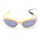 Stylish LED Cold Light Evening Party Glasses - Yellow (2 x AA)