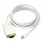 Mini DisplayPort 20-Pin Male to VGA 15-Pin Male Adapter - White (1.8M)