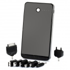 DE950 10000mAh Mobile Power Battery Charger w / Adapter für Handy - Schwarz