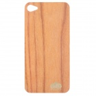 Protective Wooden Back Skin Sticker + Screen Protector for iPhone 4 / 4S (Rosewood)