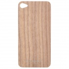 Protective Wooden Back Skin Sticker + Screen Protector for iPhone 4 / 4S (Walnut)