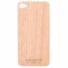 Protective Wooden Back Skin Sticker + Screen Protector for Iphone 4 / 4S (Betula Alnoides)