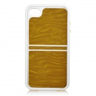 2-in-1 Protective ABS Bumper Frame w/ Back Cover for iPhone 4 / 4S - Golden
