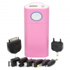 Power Bank 6600mAh Mobile External Power Battery Charger w/ 8 x Adapters - Pink