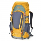 55L Outdoor Mountaineering Camping Cycling Backpack with Rainproof Cover - Yellow