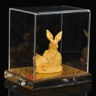 Gold Casting Display Decoration Collection Gift - Chinese Zodiac Rabbit