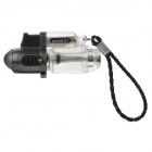 1300'C Windproof Butane Jet Torch Lighter - Grey + Transparent