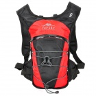 Topsky Outdoor Sports Nylon Backpack - Black + Deep Red