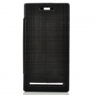 NILLKIN Protective PU Leather Case w/ Screen Protector for Sony LT26i - Black