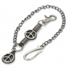Cool Zinc Alloy Waist Chain Style Keychain - Black + Silver