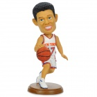 Stylish Jeremy Lin Figure Resin Display Model Doll Toy - White + Black