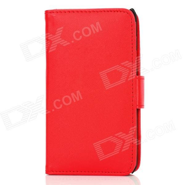 Protective PU Leather Case for Samsung i9100 - Red