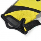 Outdoor Cycling Riding Anti-Slip & Venting Half Finger Gloves - Yellow (Pair / Size-XL)