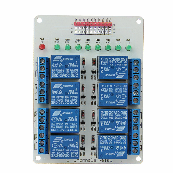 8 Channel 5V Relay Module Extension Board for Arduino relay shield v1 0 5v 4 channel relay module for arduino works with official arduino boards