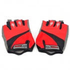 Outdoor Cycling Riding Anti-Slip & Venting Half Finger Gloves - Deep Red (Pair / Size-XL)