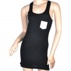MC Super Light Comfortable Long All-match Vest for Women - Black