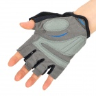 Outdoor Sports Bike Cycling Non-slip Half Finger Gloves - Blue (Pair/Size-XL)
