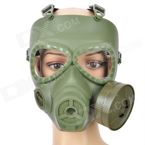 Skull Style Gas Mask for Outdoor War Games - Army Green tactical skull face mask military field us active duty m50 gas mask cs field skull mask for hunting paintball