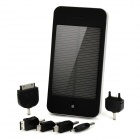T21 Solar Powered Mobile Power Battery Charger w/ Adapters for Cellphone - Black