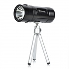 4.2V/6000mAh Rechargeable Blue & White Dual Light Source Fishing Light with Tripod - Black
