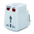 Multi-Function AC Power Adapter with USB Port - White (US / EU / UK)