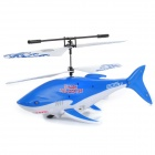 Cool Rechargeable 2.5-CH Infrared Control Flying Shark Helicopter w/ Gyro - White + Blue