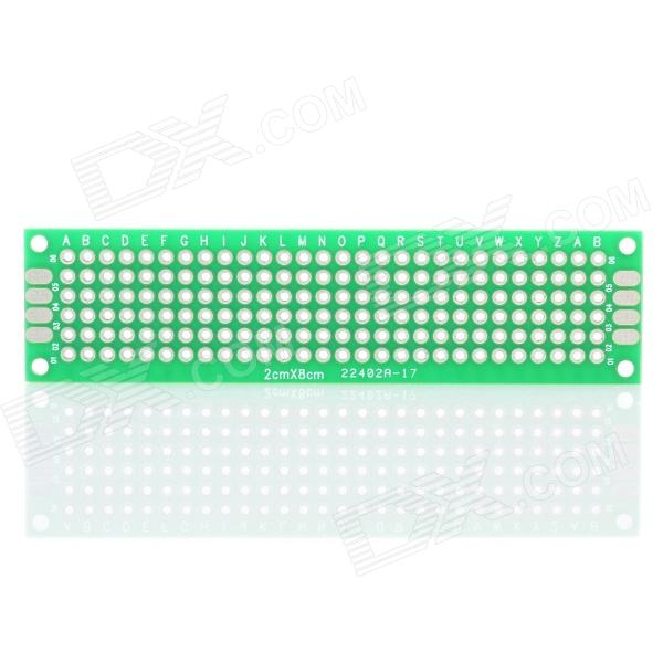 PCB Prototype Blank PCB 2 Layers Double Side 2 x 8cm Protoboard - Green 6 in 1 double sided pcb prototype boards set green