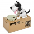 Choken-Bako Robotic Dog Coin Bank - Black + White + Earth Yellow (2 x AA)