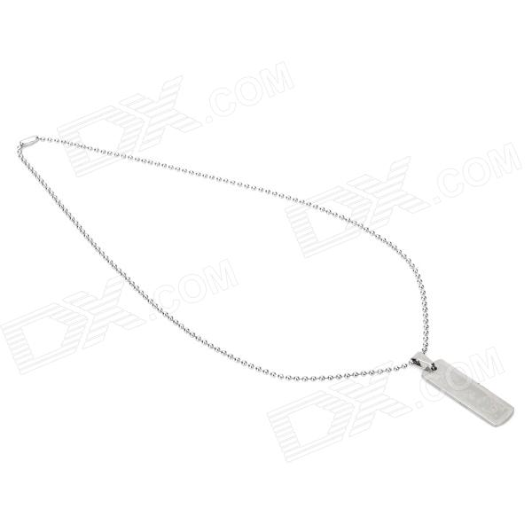 Rectangle Liverpool Football Club Logo Style Alloy Pendant Necklace