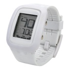 Fashion Silicone Band Digital LED Wrist Watch - White (1 x CR2025)