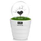 "Romantic Grass Pot ""I Love You"" Heart Style Red NEON Night Lamp (AC 220~250V)"