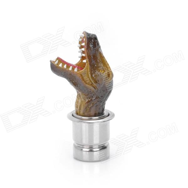 Cool Dinosaur Style Resin Car Cigarette Lighter - Brown (DC 12V)