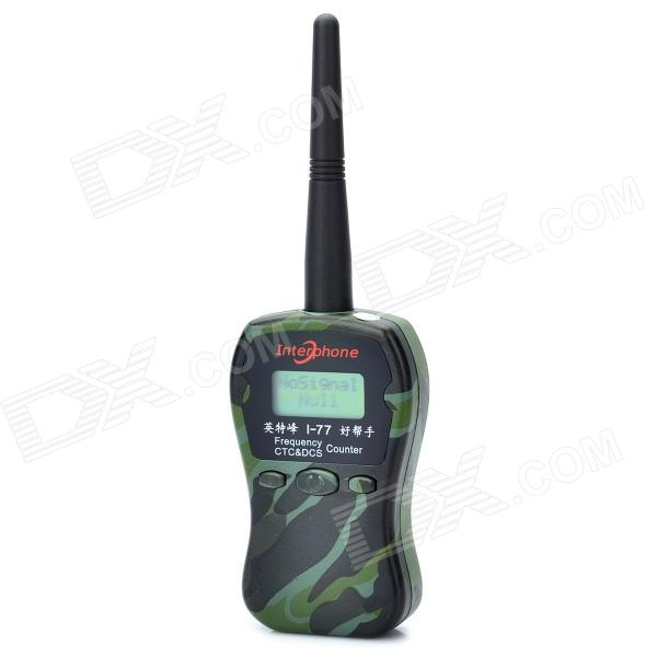 Interphone I-77 1MHz-2400MHz Radio Frequency CTCSS DCS Counter - Camouflage Green (3 x AAA) 0 1 2 4ghz rf power meter frequency range 100 2400 mhz 65 0 dbm 1nw 1w