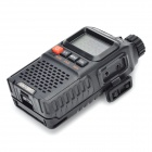 "UV-3R+ 3W 99-Channel 1.9"" LCD Walkie Talkie w/ White LED Flashlight - Black"