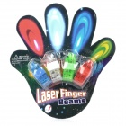 Magic Colorful LED Finger Ring Laser Light (3*AG3 / 4PCS)