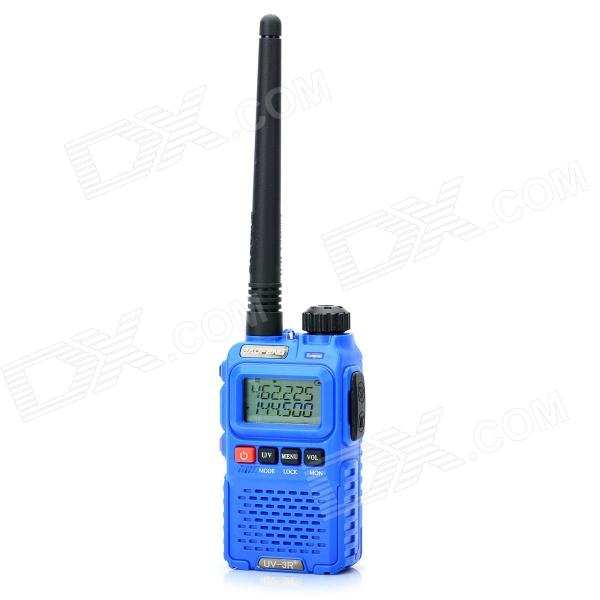 Baofeng BF-UV3R+ 1.9 LCD 3W 136~174MHz / 400~470MHz Dual Band 99-Channel Walkie Talkie - Blue