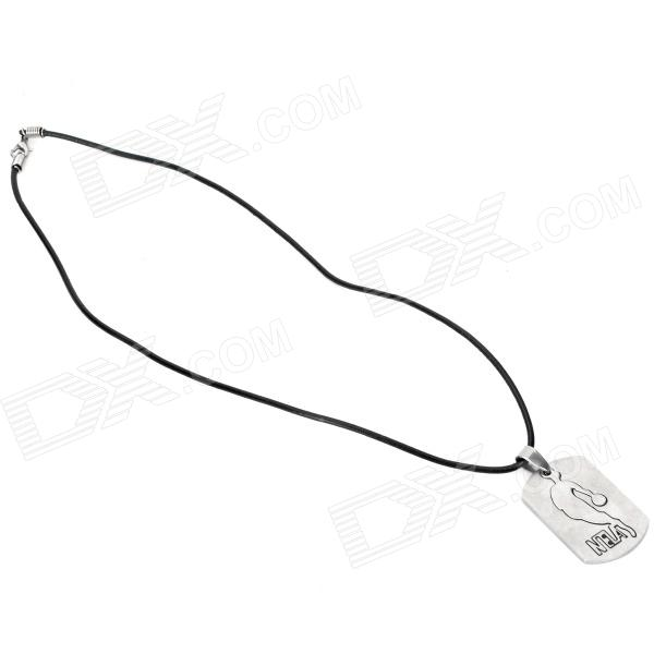 Fashion NBA Logo Style Stainless Steel Alloy Pendant Necklace
