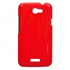 NILLKIN Protective PC Case w/ Screen Protector Film Guard for HTC ONE X - Red