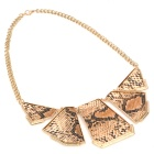 Fashion Snakeskin Printed Necklace - Yellow + Black + Grey