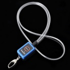 Optical Fiber 3-Mode Blue Light Pet Decoration Necklace Strap - Blue + White