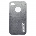 Protective Plastic Back Case with Screen Protector Film for Iphone 4 / 4S - Silver