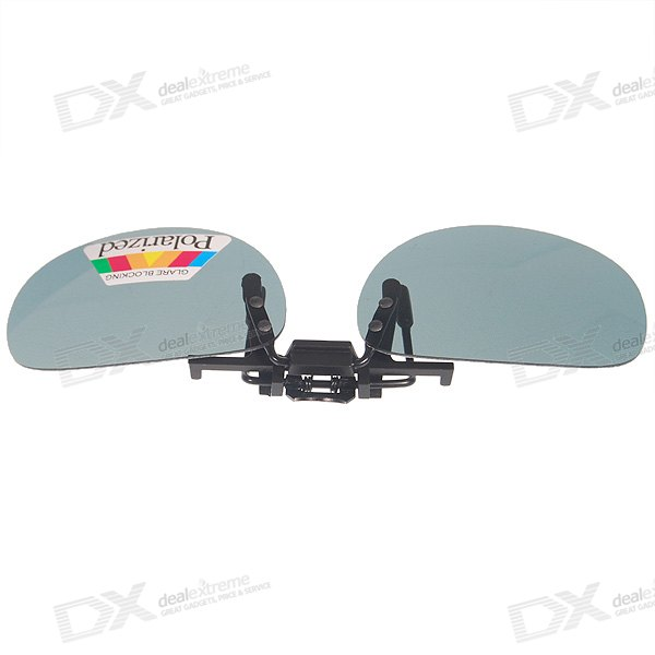 Polarized Clip-on UV400 Sunglasses with Hard Protective Case (Medium)