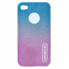 Protective Plastic Back Case with Screen Protector for Iphone 4 / 4S - Blue + Purple