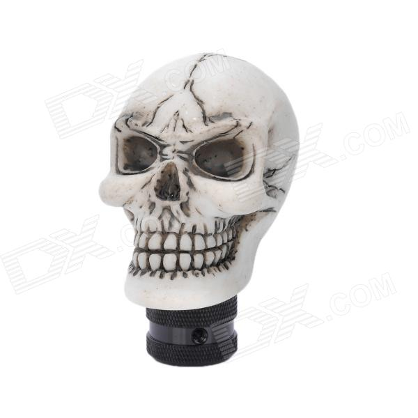 Cool Skull Style Resin Car Gear Shift Knob - White от DX.com INT