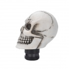 Estilo fresco del cráneo Resina Car Gear Shift Knob - Blanco