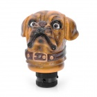 Cute Shar Pei Dog Style Resin Car Gear Shift Knob - Yellow